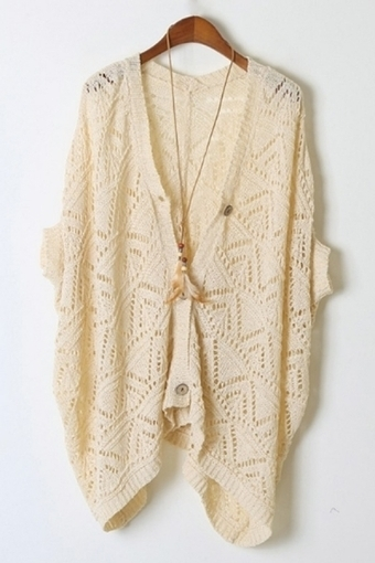Cutout Batwing Sleeve Cardigan - OASAP.com | Sweaters and Cardigans | Scoop.it