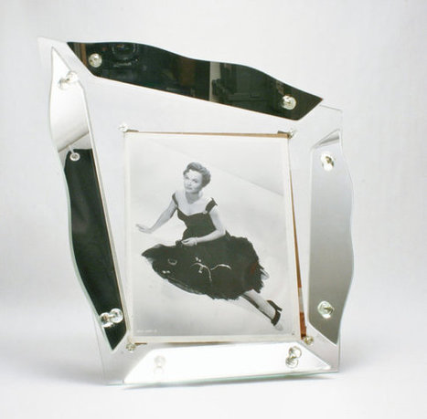 Hollywood High-Style Glass & Mirror Unique Picture Frame Glamour Modernism at its Finest Mid Century Modern Art Deco Regency Eames Era   S U B L I M E * D E S I G N   Scoop.it