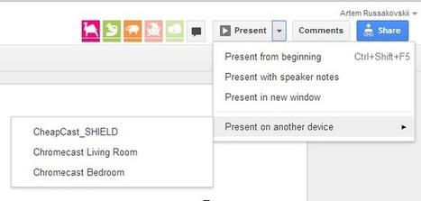 Google Drive ya permite difundir presentaciones a Chromecast desde equipos de escritorio | Google tresnak | Scoop.it