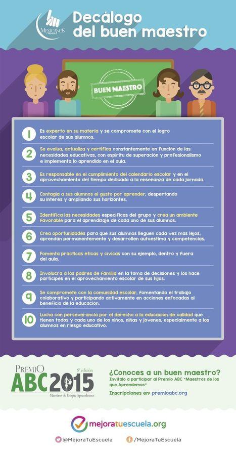 Decálogo del Buen Maestro | Infografía | Experiencias educativas en las aulas del siglo XXI | Scoop.it