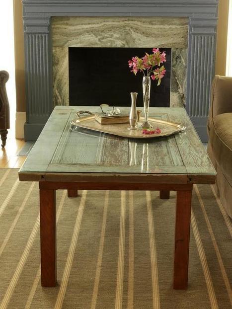 Furniture Ideas for Old Doors - Decorating With Old Doors   HGTV Design Blog – Design Happens   Pargas Junkyard   Scoop.it