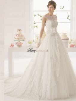 Cheap A-Line Bateau Applique Wedding Dresses Sale at Amydress.co.uk | amydress | Scoop.it