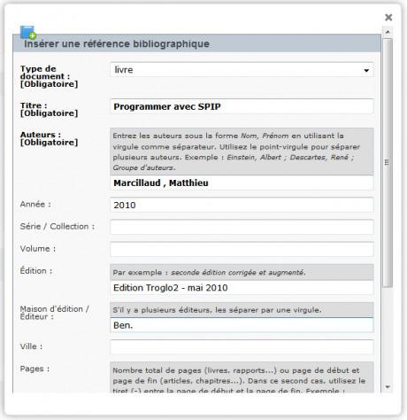 Cite : des modèles pour les références bibliographiques - SPIP ... | SPIP - cms, javascripts et copyleft | Scoop.it