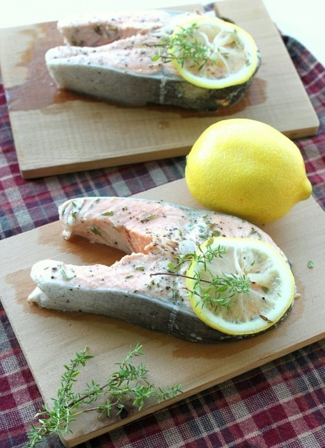 #HealthyRecipe : Lemon and Thyme Cedar Plank Salmon | The Man With The Golden Tongs Goes All Out On Health | Scoop.it