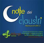 1 SETTEMBRE 2012 - La notte dei Claustri - Altamura (BA) | senza glutine | Scoop.it