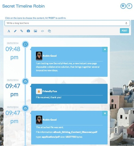Private & Disposable Instant Collaborative Timelines: SecretlyMeet.me | AtDotCom Social media | Scoop.it