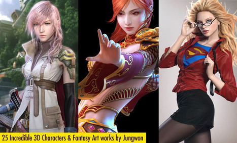 25 Incredible 3D Character designs and Game Fantasy Art works by Jung won Park | 3D Curious & VFX | Scoop.it