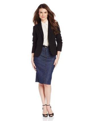 Jones New York Women's Olivia Solid Short Sleeve 2 Button Jacket, JBlack, 14 | Big Deals Fashion Today | Scoop.it