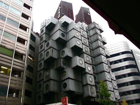 Nakagin Capsule Hotel Tower, Shimbashi | Michael John Grist | Modern Ruins, Decay and Urban Exploration | Scoop.it