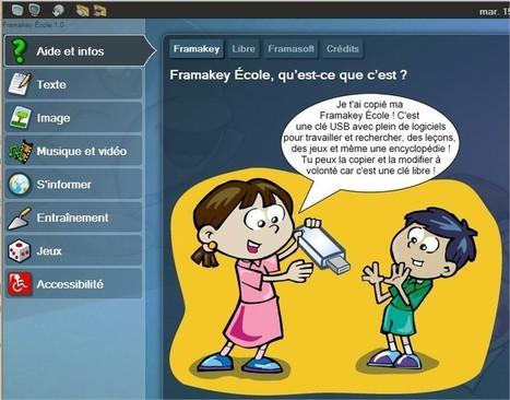 Tice 74 - Site des ressources pédagogiques TICE - FramaKey Ecole : une compilation de logiciels gratuits pour les élèves | Formation et partage | Scoop.it