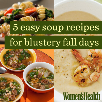 5 Easy Soup Recipes for Blustery Fall Days | Snacks | Scoop.it