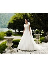 A Line Strapless Court Train Tulle Ivory Wedding Dress Ld2429 for $1,030 | Landybridal 2014 wedding dress | Scoop.it