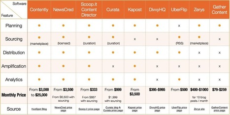 A reference on the cost of Content Marketing software | Content Marketing, Curation, Social Media & SEO | Scoop.it