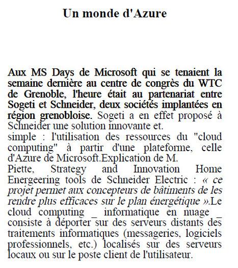 Retour sur les Microsoft Days SOGETI Grenoble du 07 juin 2011   LdS Innovation   Scoop.it