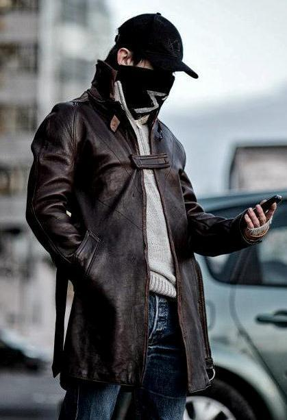Watch Dogs: Aiden Pearce Leather Long Coat | Watch Dogs Aiden Pearce Coat | Scoop.it