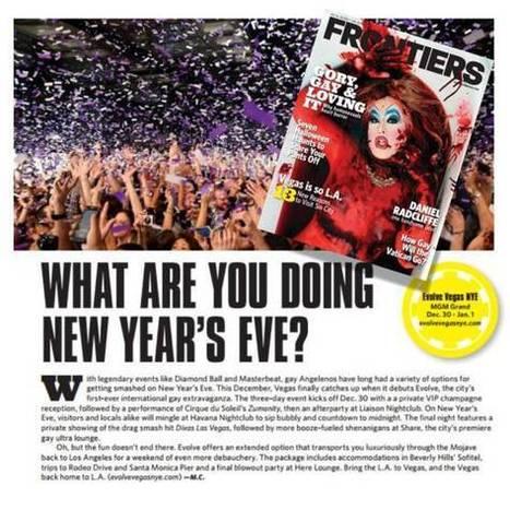 Evolve Vegas NYE in Frontiers Magazine | Evolve Vegas NYE | Scoop.it