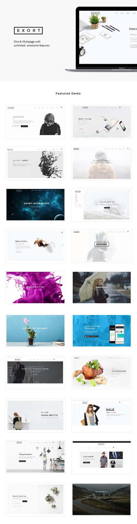 Exort Stunning Responsive Multipurpose Bootstrap Template Download | Creative Themes and Template Download | Scoop.it