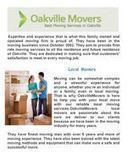 Moving Services In Oakville ON | Local ON Movers | Scoop.it