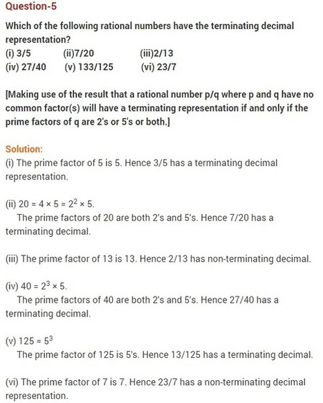 Real Numbers CBSE Class 10 Maths Chapter 1 Extra Questions | RD Sharma Solutions for class 9 | Scoop.it