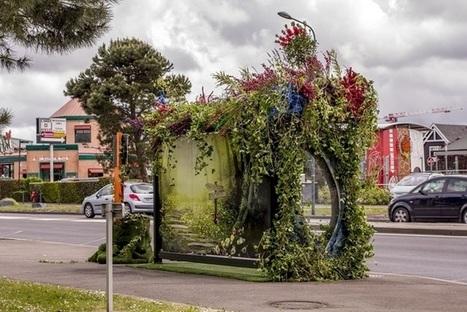 Les abribus fleurissent à Nantes | streetmarketing | Scoop.it