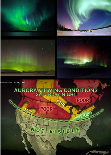 Dazzling Northern Lights Anticipated Saturday Night | My School | Scoop.it