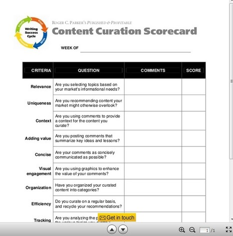 Measure Your Content Curation Success: A 10 Question Scorecard | Social Media Content Curation | Scoop.it