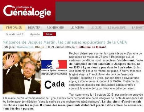 Actes de naissance des personnalités | CGMA Généalogie | Scoop.it