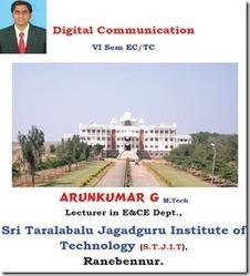 Digital Communication Arunkumar Notes For VTU EC   Arun Kumar Notes   Scoop.it