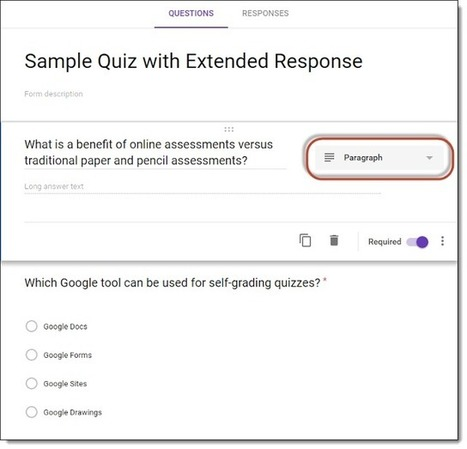 Correcting or Grading Extended Response Questions with Google Forms Quiz Feature | Strictly pedagogical | Scoop.it