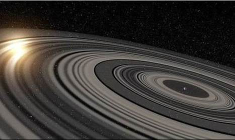The giant rings of 'Mega Saturn' are spinning the wrong way (retrograde) | Amazing Science | Scoop.it