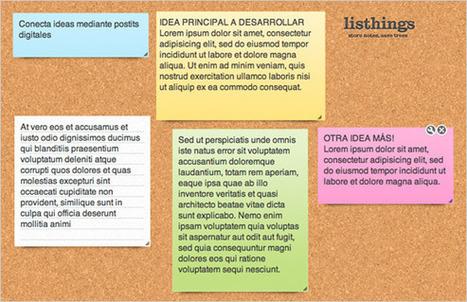 Listhings, un panel virtual para tus ideas | Escuela y Web 2.0. | Scoop.it