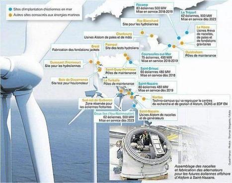 Assises de la mer. Énergies marines : une mine d'emplois pour l'Ouest | Ouest France Entreprises | EMR | Scoop.it