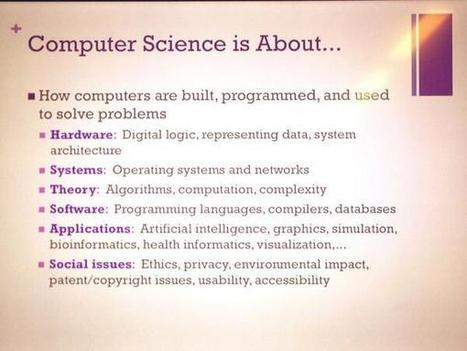 Twitter / GeekChicPro: CS is NOT just about programming ... | COMPUTATIONAL THINKING and CYBERLEARNING | Scoop.it