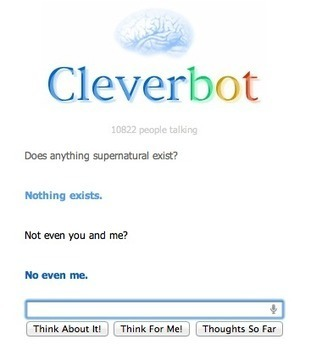 The Philosophy of Cleverbot | Adventures in Cognition | Scoop.it