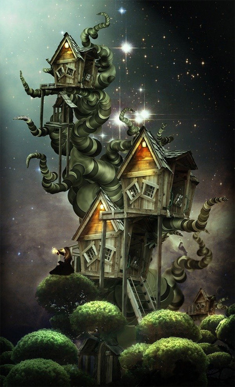 Create a Beautiful Fantasy Treehouse in Photoshop | Photoshop Photo Effects Journal | Scoop.it