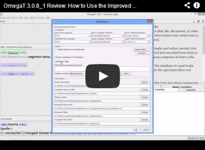 (CAT) - (VIDEO) - OmegaT 3.0.8_1 Review | Roman Mironov | Glossarissimo! | Scoop.it