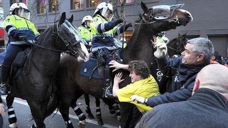 Police, builders clash on CBD picket line | Trade unions and social activism | Scoop.it