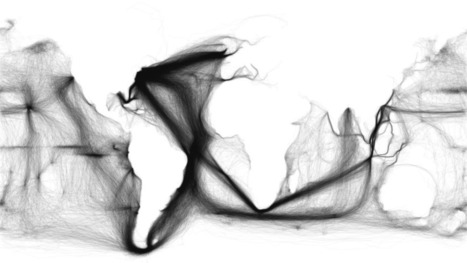 A map of 19th Century shipping routes and nothing else | Strange days indeed... | Scoop.it