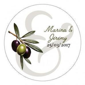 Mariage : Stickers personnalisé olives | Dragée -Décoration  Mariage | Scoop.it