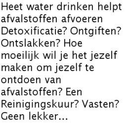 Detox: Heet water drinken helpt ook! | Ayurveda | Scoop.it
