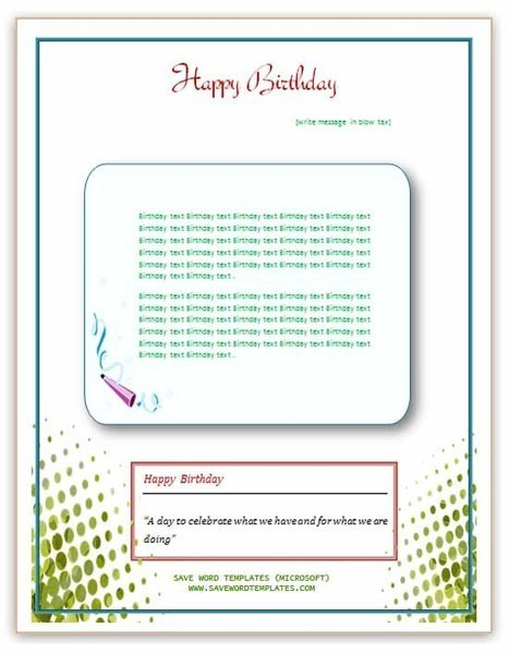 Birthday Party Flyer | Microsoft Word Templates | About some templates | Scoop.it
