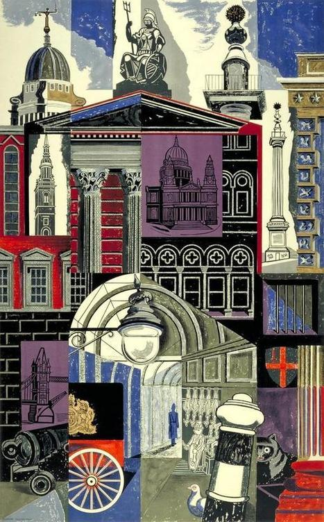"""Imaginary Cities on Twitter: """"The City (London Transport, 1952) by Edward Bawden http://t.co/DiXxwyIC8V"""" 