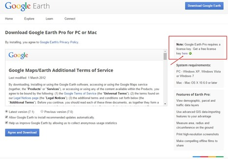 Google Earth PRO For FREE For PC or Mac | 21st Century Tools for Teaching-People and Learners | Scoop.it