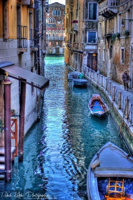Venise en bleu violet - Venice in blue purple | Pictures of Venice | Scoop.it