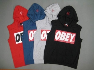 OBEY Sleeveless Sweatshirt cheap tank top 4pcs with 4 color red,navy,gray,black - wholesalefashionstyle - Global Online Shopping for hats & caps,Glasses & Sunglasses,Sport jerseys,Handbags & Purse,... | howdy shopping | Scoop.it