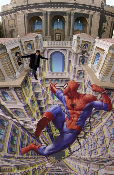 Extra dimension: artist's stunning 3D street art in new book | Machinimania | Scoop.it