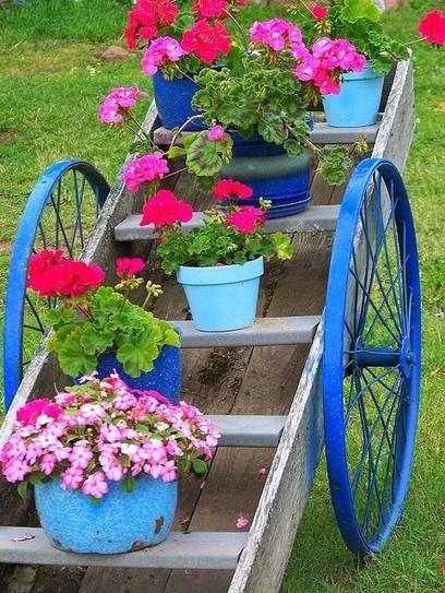 Garden cart created from spare parts | Upcycled Garden Style | Scoop.it