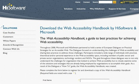Download the Web Accessibility Handbook by HiSoftware; Microsoft | 21st Century Tools for Teaching-People and Learners | Scoop.it