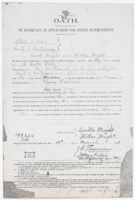 Encuentran la patente perdida del primer avión de la Historia   Propiedad intelectual e industrial-Jabetza intelektuala eta Jabetza industriala   Scoop.it