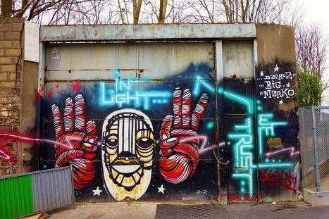 Sunday Street Art : DaCruz et Big Marko - rue de l'Ourcq - Paris 19   Paris la douce   Richard and Street Art   Scoop.it